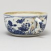 A blue and white ecuelle/bowl, qing dynasty, kangxi (1662-1722).