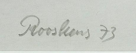 Anton rooskens, liografi, signerad och numrerad.