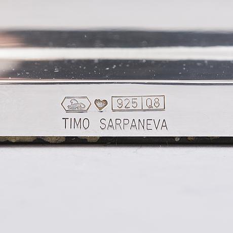 Timo sarpaneva, a silver and crystal candlestick for kultakeskus 1993.