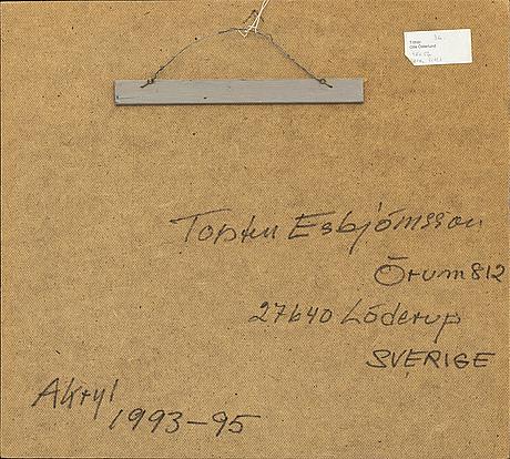 Torsten esbjÖrnsson, acrylic on panel.