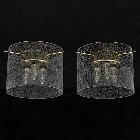 A pair of late 20th cenutry ceiling light by kjell munch.