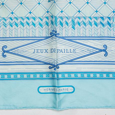 """HermÈs, scarf, """"jeux de paille""""."""