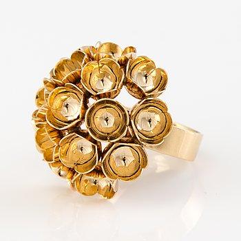 "A 14K gold Liisa Vitali ring ""Spring"", Westerback, Helsinki, Finland 1967."
