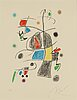Joan mirÓ, lithograph in color, signed and numbered 74/75.