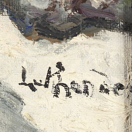 Carl luthander, oil on canvas, signed.