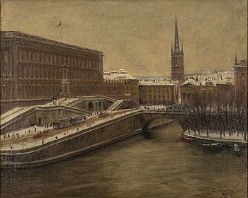 Louis Sparre, oil on canvas, signed and dated 1918.