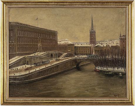 Louis sparre, olja på duk, signerad l. sparre och daterad 1918.