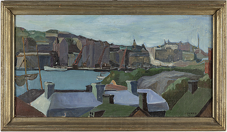 Birger ekman, oil on canvas, signed ekman.