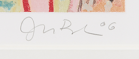 Juba tuomola, colour litography, signed and dated -06. marked 119/175 rakas hapannaama.