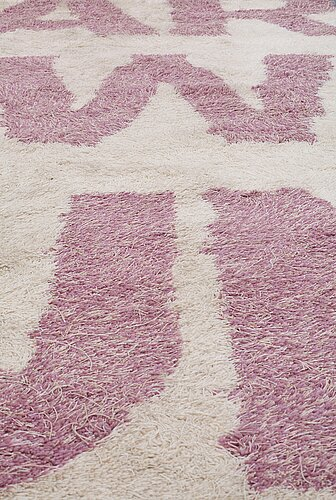 "Ulf rollof, a carpet, ""the art of war sun tzu"", kasthall, tufted around 2010, ca 388,5 x 394 cm."