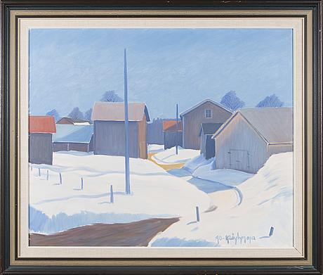 Kalervo lÖytynoja,  oil on canvas, signed and dated -90.