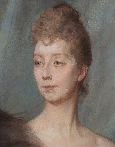 """Albert edelfelt, study for """"portrait of princess marie amélie françoise hélène of danmark, née princess of orléans (1865-1909)""""."""