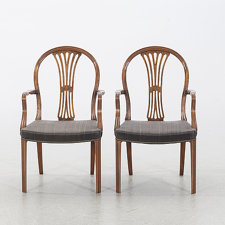 Frits henningsen, a pair of armchairs.