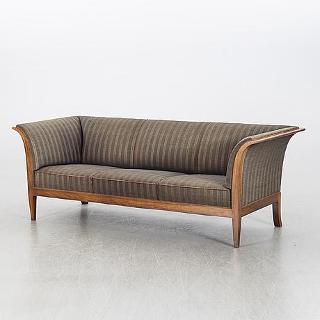 Frits henningsen, a mahogany sofa mid 1900's.