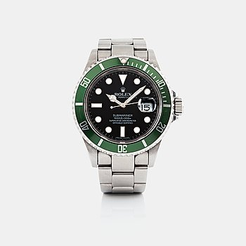 "16. ROLEX, Submariner, ""Kermit""."