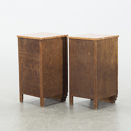 A pair of bed side tables, beginning of 20th century.