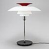 A poul henningsen 'ph-80' table lamp,  louis poulsen.