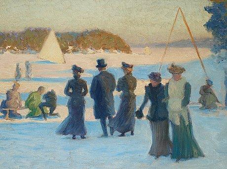 """Robert thegerström, """"vinteridrott"""" (winter sports)."""