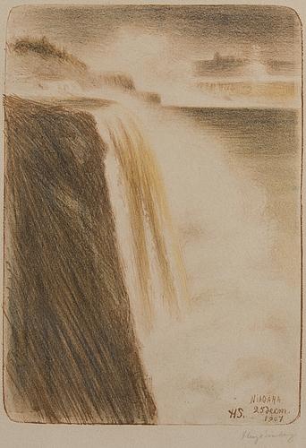 Hugo simberg,litografia, signeerattu ja päivätty 1907.