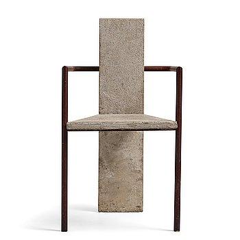 """44. Jonas Bohlin, a """"Concrete"""" armchair, Källemo, Värnamo, Sweden 1981."""