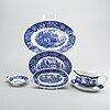 "Reinhard richter, ""masema"", arabia finland, stone ware, blue, 71 pcs."