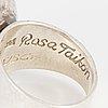 Rosa taikon, ring, sterlingsilver.