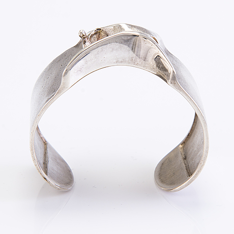 BjÖrn weckstrÖm, 'the man from mercurius' sterling silver bracelet, marked 'björn', lapponia, helsinki 1972.