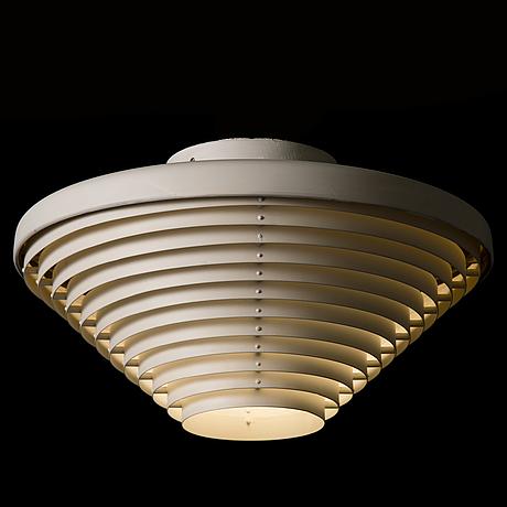 Alvar aalto, taklampa, modell a605 för valaistustyö.
