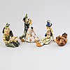 Aja unonius four ceramic 1930s sculptures, signed aja, arabia.
