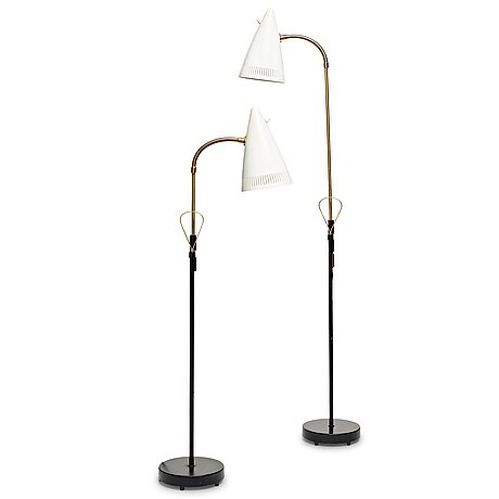 "Falkenbergs belysning, model ""7070"", two floor lamps, sweden 1960's."