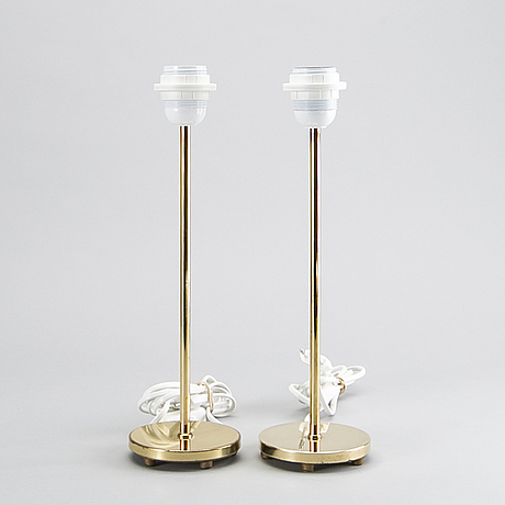 Two table lamps from falkenbergs belysning, later part of the 20th century.