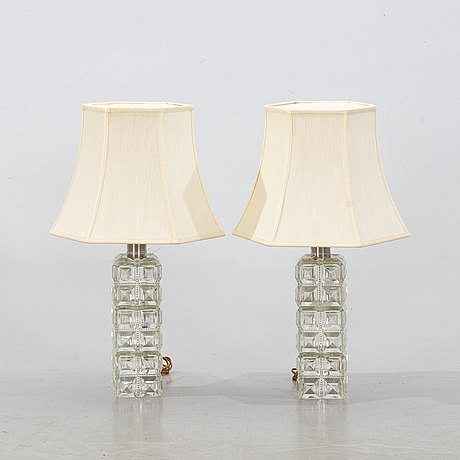Two table lamps from tyringe konsthantverk, second half of the 20th century.
