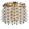 "Hans-agne jakobsson, an ""estrella"" ceiling lamp, model t581/35, markaryd, sweden 1960-70's."