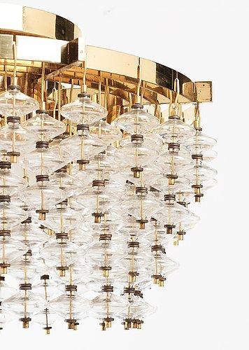 "Hans-agne jakobsson, an ""estrella"" ceiling lamp, model t580/75, markaryd, sweden 1960-70's."