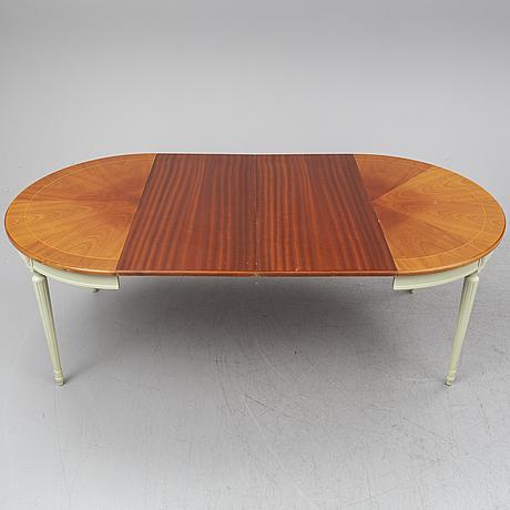 A gustavian style dinner table, second half of the twentieth century.