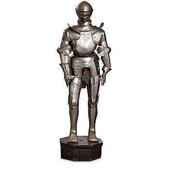 157. A German metal armour, composite, mid 1500's and later.