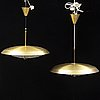 A pair of ceiling lights by carl fagerlund, second half of the 20th century.