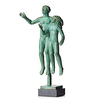 """403. Carl Milles, """"Bror och syster"""" (=Brother and sister)."""