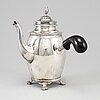 An empire-style silver coffee pot, stockholm 1916.
