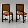 Six mid 20th century baroque style chairs.