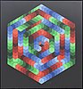 Victor vasarely, serigraph printing, signed and numbered 155/250.