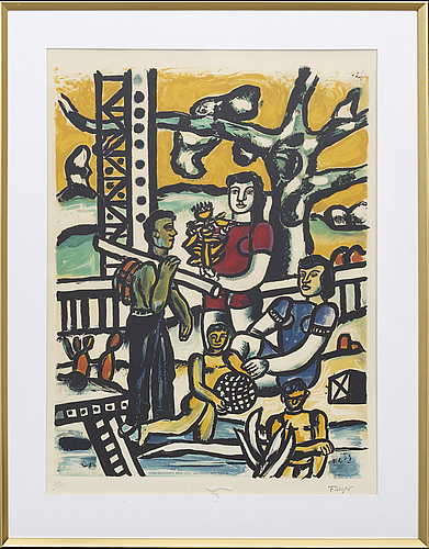 Fernard leger, after, litograph.