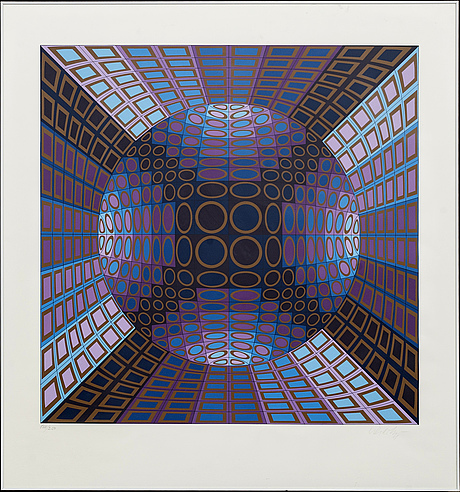 Victor vasarely, serigraph printing, signed and numbered 184/250.