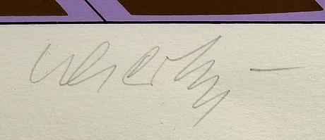 Victor vasarely, färgserigrafi, signerad och numrerad 184/250.