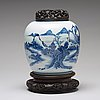 A blue and white jar, qing dynasty, qianlong (1736-95).