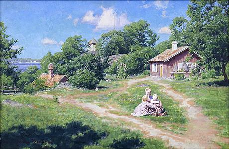 Johan krouthén, oil on canvas, signed 1910.