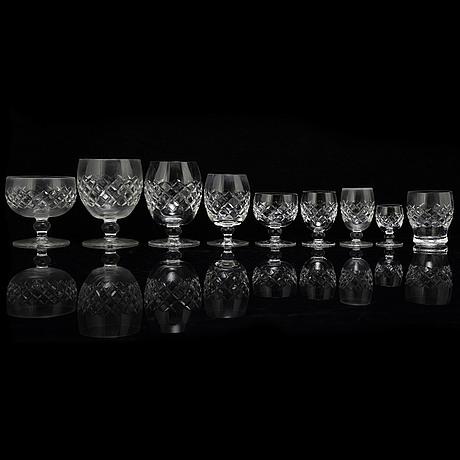Glasservis, 142 delar, 1900-tal.