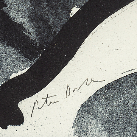 Peter dahl, lithograph, signed peter dahnl in pencil.