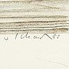 Philip von schantz, färglitografi, signerad v. schantz, numrerad 175/190 och daterad 88.