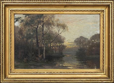 Arvid mauritz lindstrÖm, oil on canvas signed.